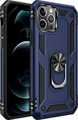 iPhone 12 Case,iPhone 12 Pro Case,[ Military Grade ] 15ft. Drop Tested Protective Case | Kickstand | Compatible for iPhone 12 Pro/iPhone 12 6.1 Inch 2020-Royal Blue