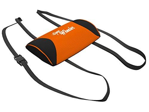 OpenWheeler Lumbar Support and Neck Support Pillow (Orange, Lumbar)