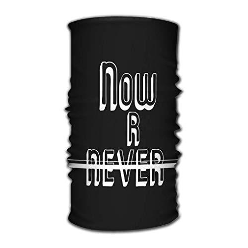 Quintion Robeson Écharpe de variété Wrap Bandana Headwear Now Never Print Now Never Print Fashion Slogan Conçu Produits d'impression Badge Applique Stamp