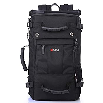 kaka Travel Backpack Laptop Backpack Waterproof Hiking Backpack Anti-Theft Bag for Men and Women College Students Black Daypack  15.6inch