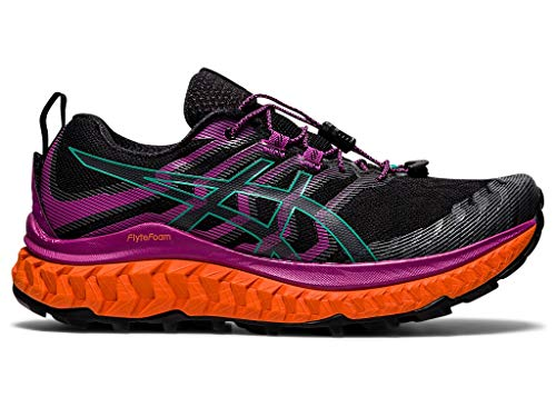 ASICS Zapatillas de running Trabuco Max para mujer, negro (Negro/Digital Grape), 39.5 EU
