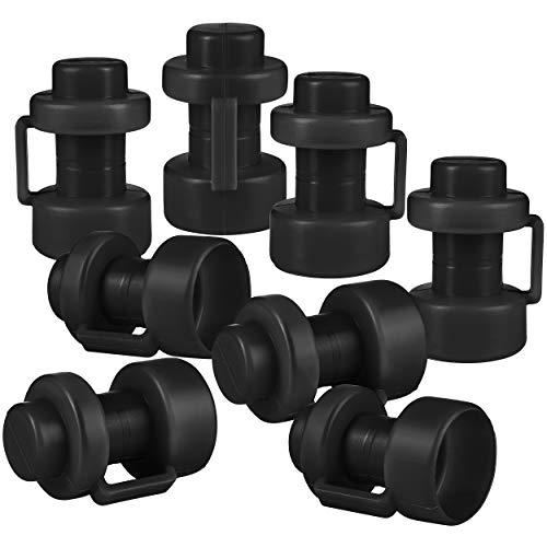 ONVAYA® Trampolin Endkappen | Set mit 8 Pfostenkappen für die Netzstangen des Trampolins (Schwarz)