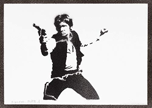 Star Wars E0287 Han Solo Blaster Nerf Glowstrike mit 4 Darts Disney