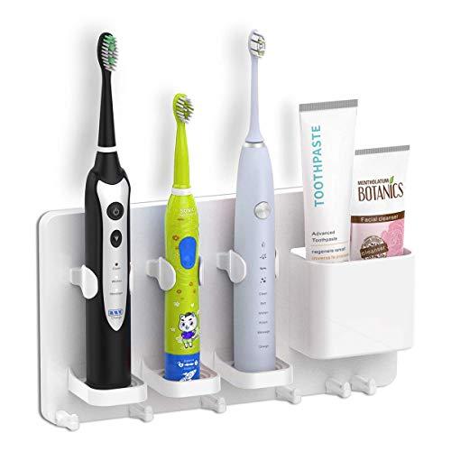 YUEMA Soporte de cepillo de dientes eléctrico montado en la pared, organizador...