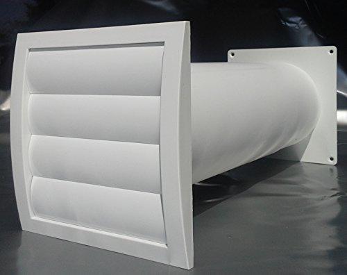 Mauerkasten NW 150 Dunstabzug Teleskop Rohr Lamellen Verschlussklappe MKWSKQLW150