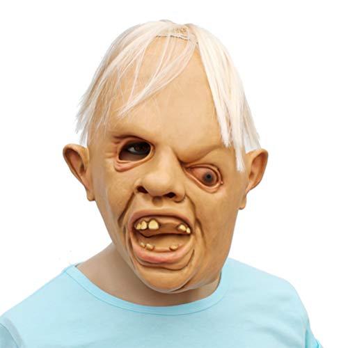 Halloween Mask Novelty Latex Creepy Horror Sloth Mask Make Up Party Costume