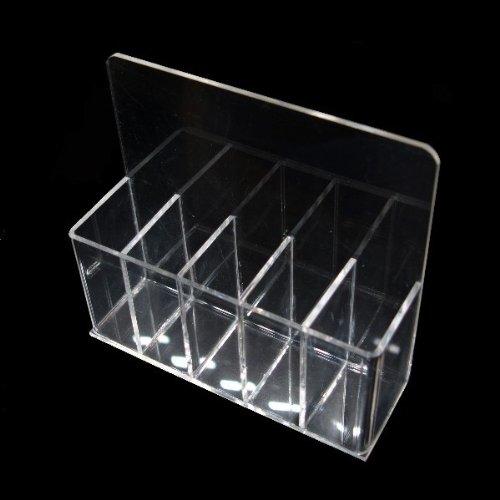N&BF Feilenbox/Pinselbox 5-Fächer | Aufbewahrungs-Behälter für Nagelfeilen, Pinsel und Schminkpinsel | Hygienebox für Nailart und Nageldesign Werkzeuge | Arbeitsmaterial Halter