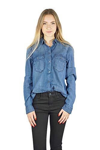 VERO MODA Damen Bluse Blue Denim XL