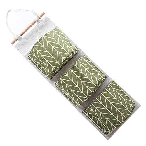 LiMMC wandbevestiging, 3 zakken, opbergtas voor keukengerei, vloeistoffen, hangtas, meerlaags, Drop, Shipping Happy Sale ap704 Green, États-unis