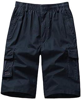 Subfamily Vaqueros Cortos Hombre Bermudas Pantalones Cargo,Pantalones Anchos de Vestir,Tallas Grandes S~7XL Ropa