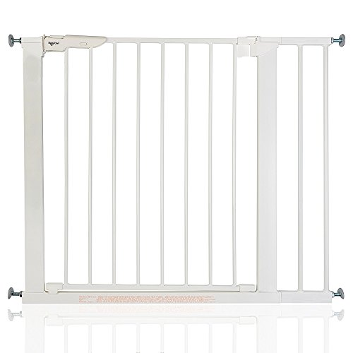 BabyDan Premier - Bebé Puerta de la Escalera Barrera de Seguridad Blanco, 86-93,3cm