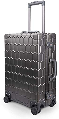 IFor All Aluminum Carry On Bagage Harde Shell Metalen koffer met TSA Lock Spinner Wielen