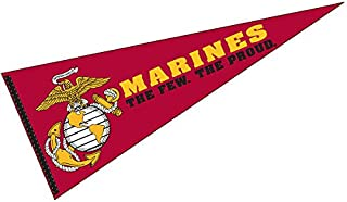 College Flags and Banners Co. Marines Pennant Full Size Felt