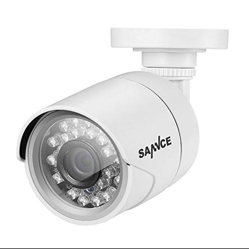 SANNCE HD 1500TVL TVI CCTV Camera 1.0MP 1/4Color CMOS Sensor with IR Cut, IP66 Weatherproof Bullet Camera with 66FT Night Vision, Compatible with TVI DVR Surveillance Camera System