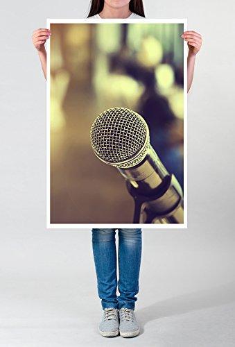 Best for home Artprints - artistieke fotografie - microfoon in detail- fotodruk in haarscherpe kwaliteit POSTER 90x60cm
