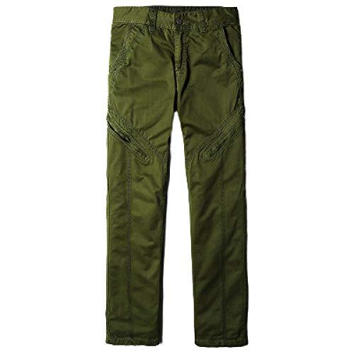 Pantalones de Trabajo al Aire Libre para Hombre, Color slido, Recto, Ajustado, de Gran tamao, con Cremallera, decoracin, Personalidad, Viajes, Pantalones de Escalada 30