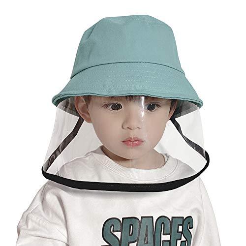 De feuilles Sonnenhut UV Schutz Baby Maske-Hut Klein Kinder Schützende Vollmaske Staubdicht Hut für Mädchen und Jungen Blau