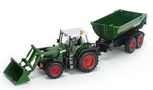 RC Auto kaufen Traktor Bild 6: Dickie Toys 201119266 - RC Farmer Set, funkferngesteuerter Traktor mit Anhänger inklusive Batterien, 60 cm*