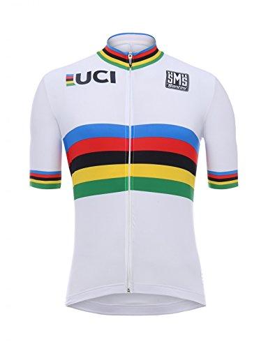 Santini Herren UCI World Champion Design Kurzarm-Trikot, Mehrfarbig, XXS