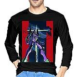 ブルームン Tシャツ 長袖 新世紀エヴァンゲリオン トレーナー シャツ 上着 ファッション カットソー Xxl Black 綿 メンズ レディース
