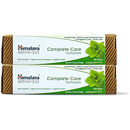 Himalaya Complete Care Toothpaste, Simply Peppermint, Plaque Reducer for Brighter Teeth and Fresh Breath, 5.29 oz, 2 Pack