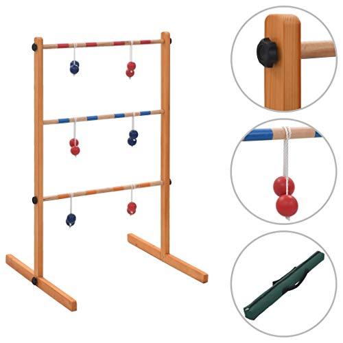 vidaXL Kiefernholz Massivholz Leitergolf Laddergolf Ladder Golf Wurfspiel Bola Top Qualität Leiterspiel Outdoorspiel Outdoor Spiel Spielzeug