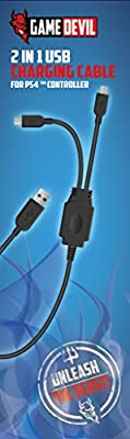 Game Devil 2 in 1 USB Charging Cabel (PS4)