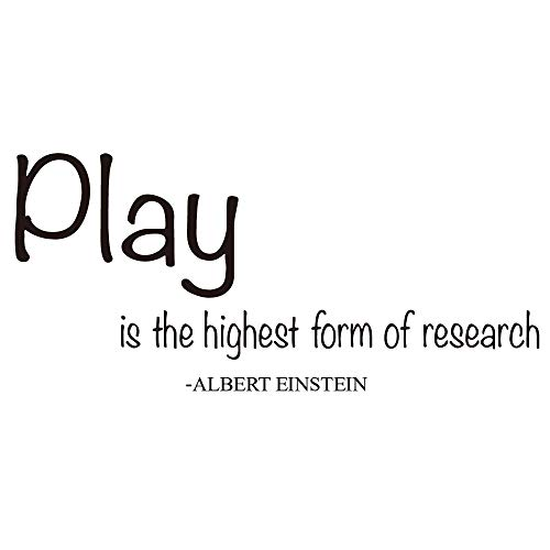 ZSSZ Play is The Highest Form of Research - Albert Einstein Quotes Wall Decals Nursery Room Vinyl Sayings D