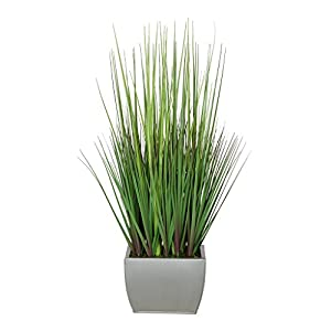 Artificial 27″ Grass in Small Rectangle Zinc (Silver)