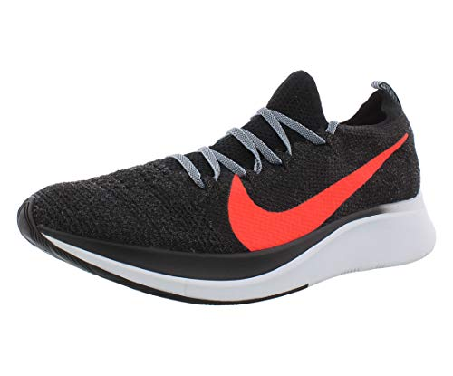 Nike Zoom Fly Flyknit Men's Running Shoe Black/Bright Crimson-Obsidian Mist 11.0