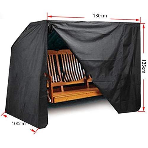 RUANMU Housse De Protection Couverture De Meubles, Noir Polyester Couverture D'oscillation, Étanche/Crème Solaire,Black,130 * 100 * 135CM
