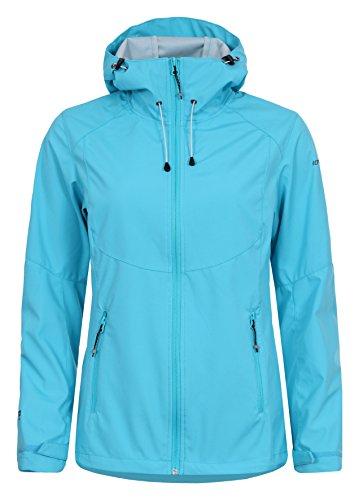 Icepeak Damen SANNI Softshell Jacke, lichtblau, 36.0