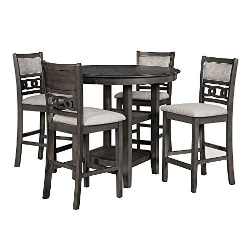 New Classic Furniture Gia Counter Dining Set, Gray
