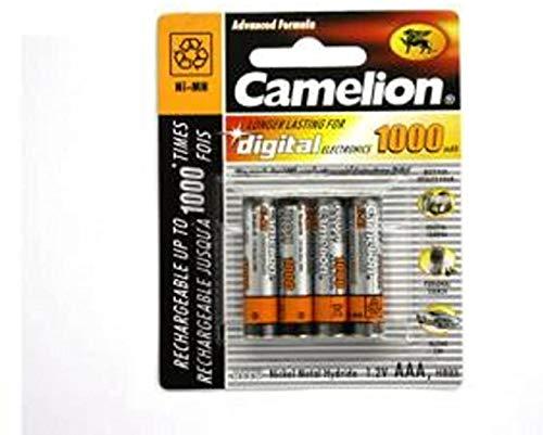 4 x Akku Batterie Camelion AAA 1000mAh für Festnetz Telefon Siemens Gigaset SX550i , S67H , SX810 ISDN , A220 , AS285 , A510 Duo , S810 ,455X , CX610 ISDN , S79H C300 , A285 , S810H , A420 , C100 , SX440 ISDN , SX810 A , E500A , SX445 ISDN , C150 , A600 , 450X , C385 Duo , C610H , C595 , C610 , C300A Duo , C59H , A400 , C590 , Panasonic KX-PRW110 , KX-TG8561 , KX-TG6522 , KX-PRS110 , KX-TG6721 , Telekom T-Sinus 502 Dect , A205 , 501i , 300i , 103 , A404 , CA34 , AVM FritzFon C3