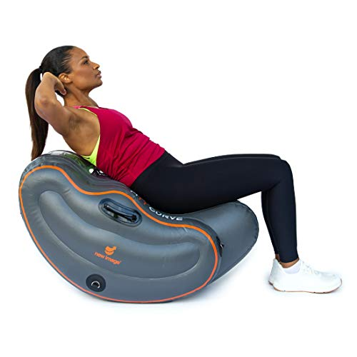 New Image Unisex's FITT Curve All-in-One Inflatable Workout System, Grey, Size