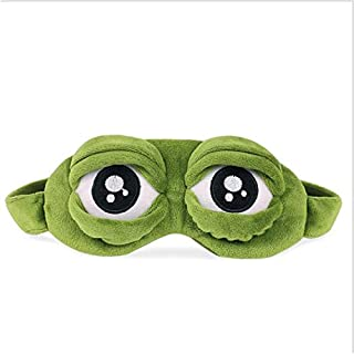 ❤️ HugSnug ❤️ - Cute Green Frog Kids Sleep Mask for Boys and Girls Sleeping, Eye Mask Soft And Blocks Light with Adjustable Straps (Dark Pink)