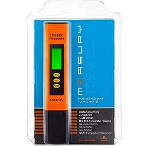 Measury-EC-Meter-Tester-TDS-Messgert-fr-Osmoseanlage-Aquarium-und-Trinkwasser-Leitwertmessgert-mit-Thermometer-Leitfhigkeitsmessgert