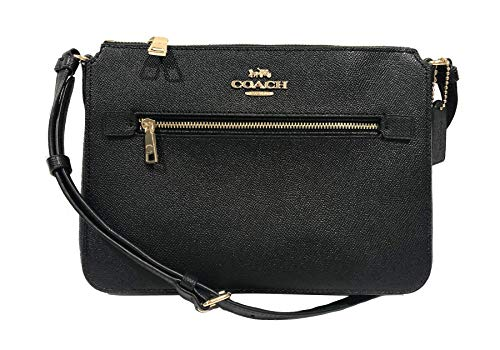 "Made of PVC with genuine leather Measurements: L: 10"" x H: 7.5"" x W: 2"" Gold Tone Hardware , Zip Top Closure One Zip pocket on front, one slip pocket inside Adjustable strap drops 22"" for crossbody wear ."