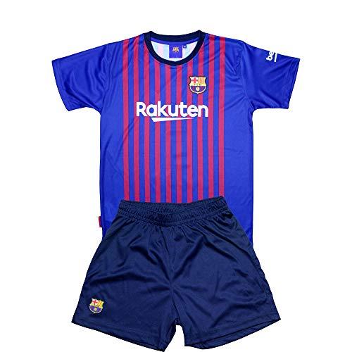 Conjunto Camiseta y Pantalon 1ª Equipación 2018-2019 FC. Barcelona - Réplica Oficial Licenciado - Dorsal Liso - Niño (0 años)