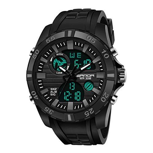 GleMFOX Digitale horloge, heren, waterdicht, sporthorloge, met wekker/timer, outdoor-sport voor mannen, lichtgevend polshorloge, voor paren, elektronisch Large #6
