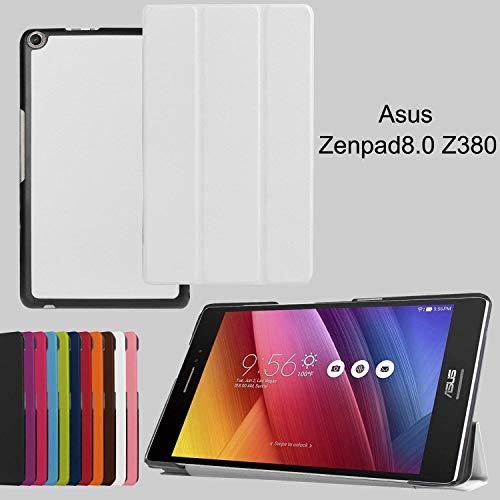 asng ASUS zenpad 8.0z380m Fall, Ultra Slim Leichte Abdeckung Stehend für ASUS zenpad 8.0z380m, z380C, z380cx, z380kl 20,3cm Tablet Weiß