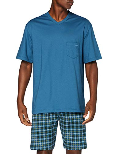 CALIDA Herren Relax Imprint 1 Pyjamaset, Blue Lake, S