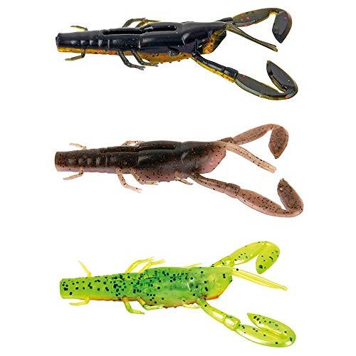 Fox Rage Critter mixed Colour Pack - 3 Gummikrebse zum Spinnfischen auf Barsche & Zander, Gummiköder zum Spinnfischen, Barschköder, Länge:7cm
