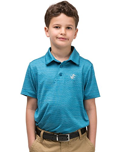 Jolt Gear Youth Boys Golf Dri Fit Polo Shirt, Breathable Performance Fit, Black