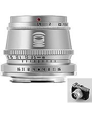 TTArtisan Obiettivo F1.4 da 35 mm, obiettivo fotocamera APS-C con messa a fuoco manuale, compatibile con Canon M: M1, M2, M3, M5, M6, M6II, M10, M100, M50 (argento)