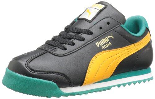 PUMA Roma Basic JR Sneaker (Little Kid/Big Kid) , Black/