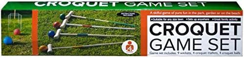 Kole Imports Wooden SALENEW very popular Set Croquet Max 52% OFF Game