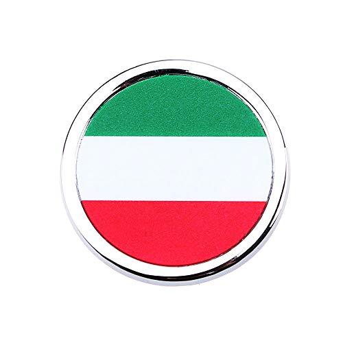 1 stücke Auto außen zubehör Italien Flagge Aufkleber Metall Mini runde Emblem für Toyota Rover Dodge Skoda Audi