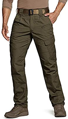 CQR Men's Tactical Pants, Water Repellent Ripstop Cargo Pants, Lightweight EDC Hiking Work Pants, Outdoor Apparel, Duratex(tlp108) - Tundra, 36W x 32L
