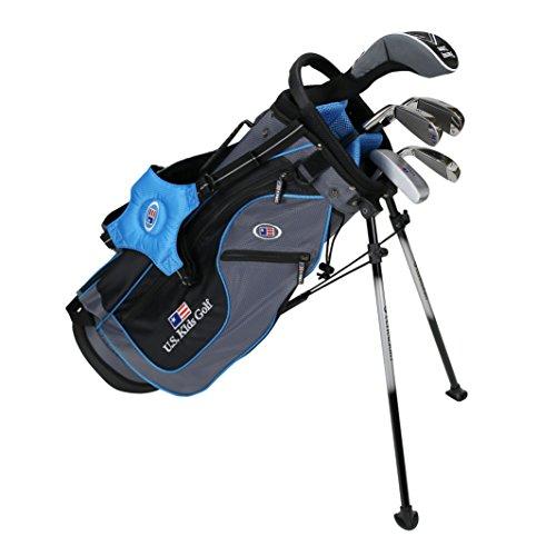 US Kids KinderGolf Ultralight Set 48, 5Club Ständer Golf Set mit Tasche (Rechtshand), Grau (Grey/Teal), 121,9 cm-129,5 cm